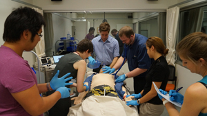 Griffith medical students get some practice in before heading out to rural placements