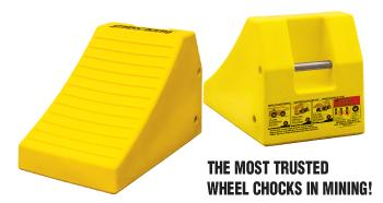 Our wheel chocks will withstand the harshest and most extreme working and weather conditions.