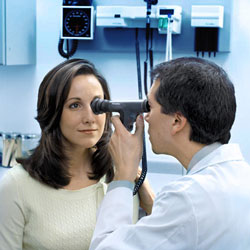 PanOptic Ophthalmoscope in use