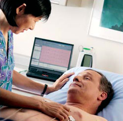 PC-based Resting ECG in use